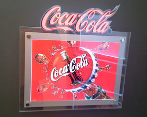Silver Border 30mm RGB Sparkle Acrylic LED Lightbox Display