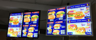 Adjustable shop store restaurant hanging menu display Aluminum Magnetic LED Light Box easy install easy change graphics